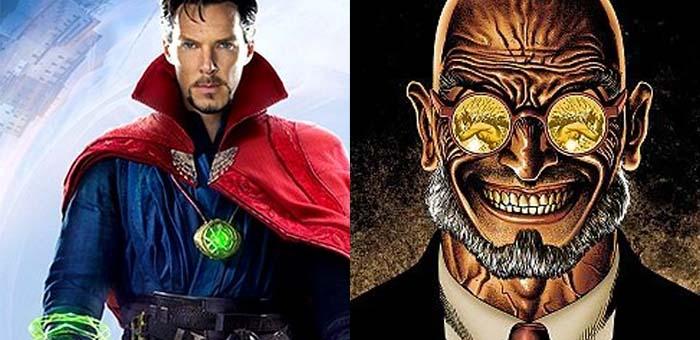 Curiosidade: 8 personagens com o mesmo sobrenome na Marvel e DC. Doutor Estranho e Hugo Strange