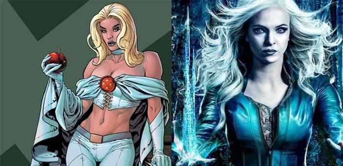 Curiosidade: 8 personagens com o mesmo sobrenome na Marvel e DC. Emma Frost e Nevasca
