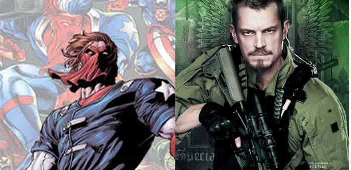 Curiosidade: 8 personagens com o mesmo sobrenome na Marvel e DC. Jack Flag e Rick Flag
