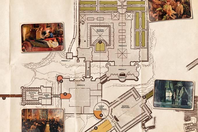 Harry Potter   como era o mapa deHogwarts