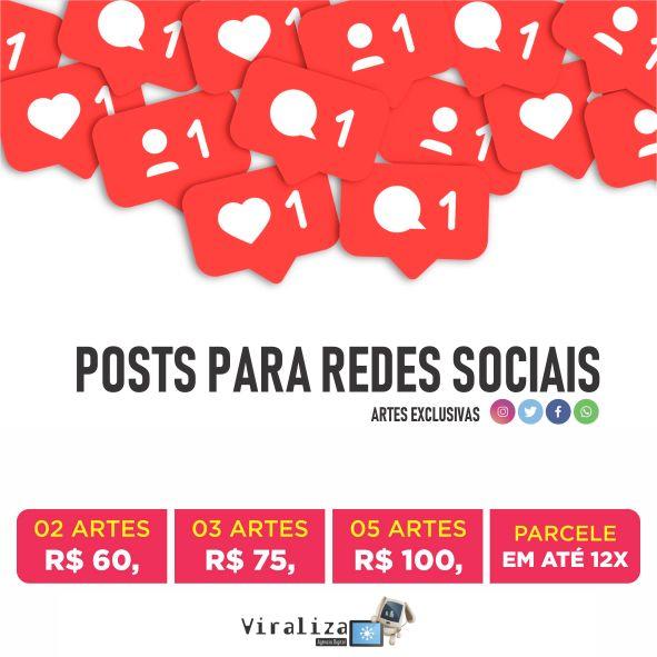 Pacote de posts para Redes Sociais
