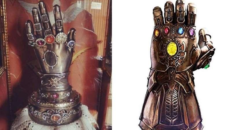 Vingadores | manopla do Thanos é semelhante a relíquiacatólica