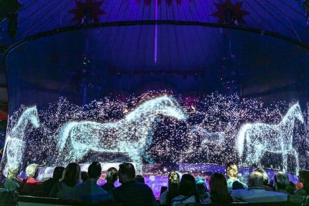 Circo troca animais de verdade por show com hologramas 3D-cavalos