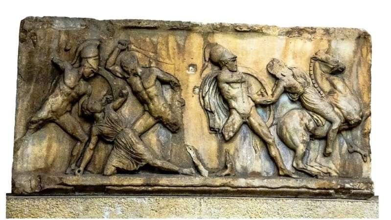 Amazonas e gregos em uma luta épica