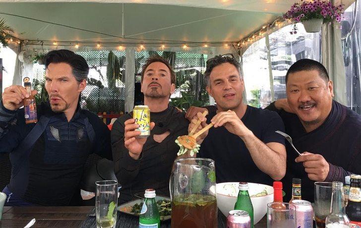 Vingadores no Set de filmagem